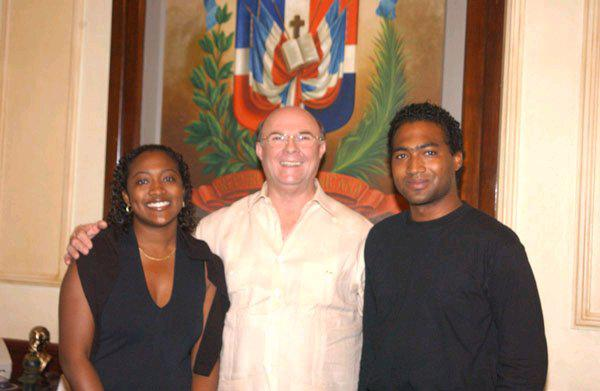 Marcel Robinson with former President of the Dominican Republic Hipolitto Mejia