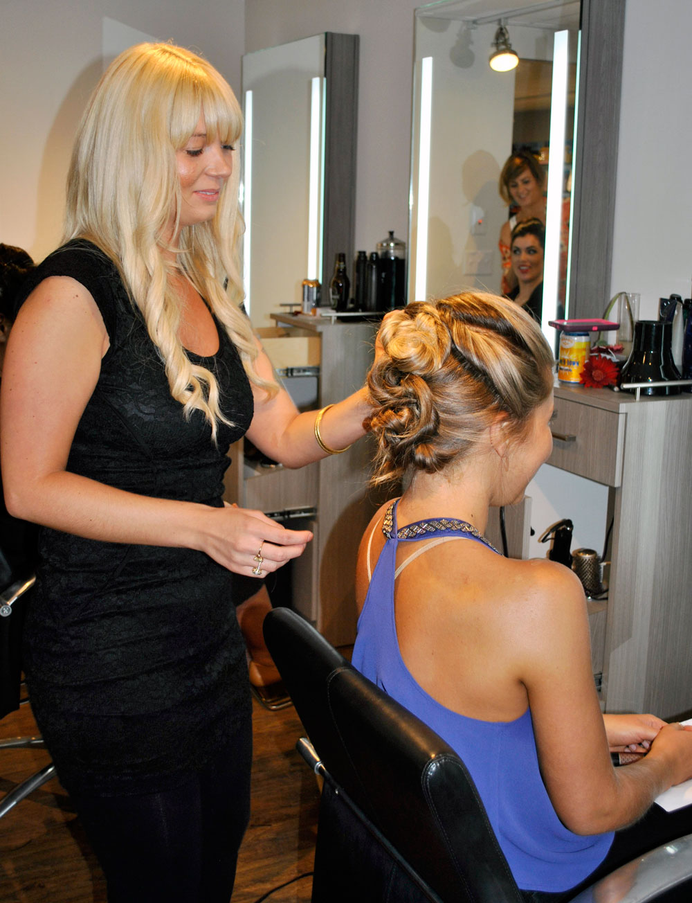 Stylists Sherise and Holly