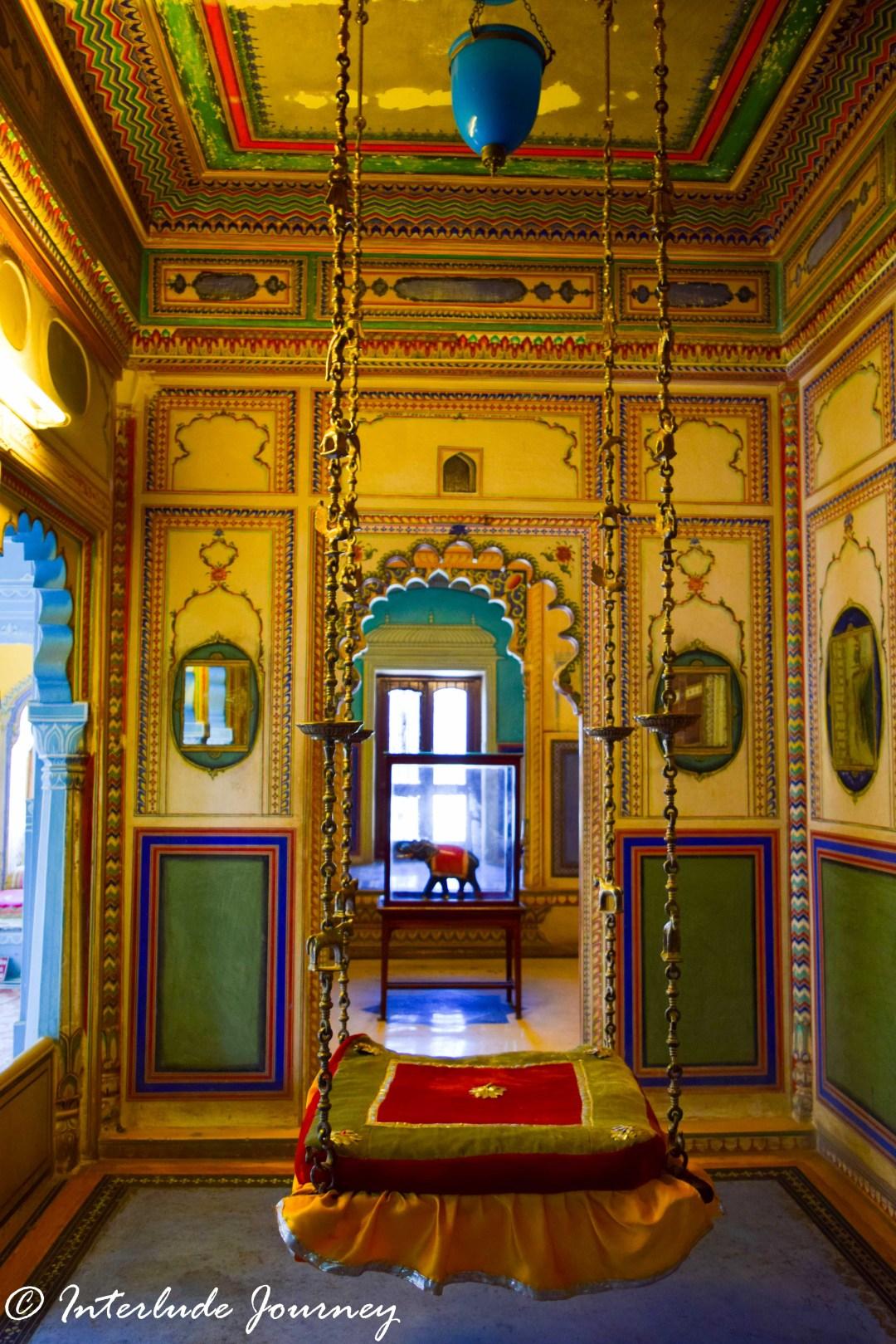 The royal swing at Udaipur City Palace