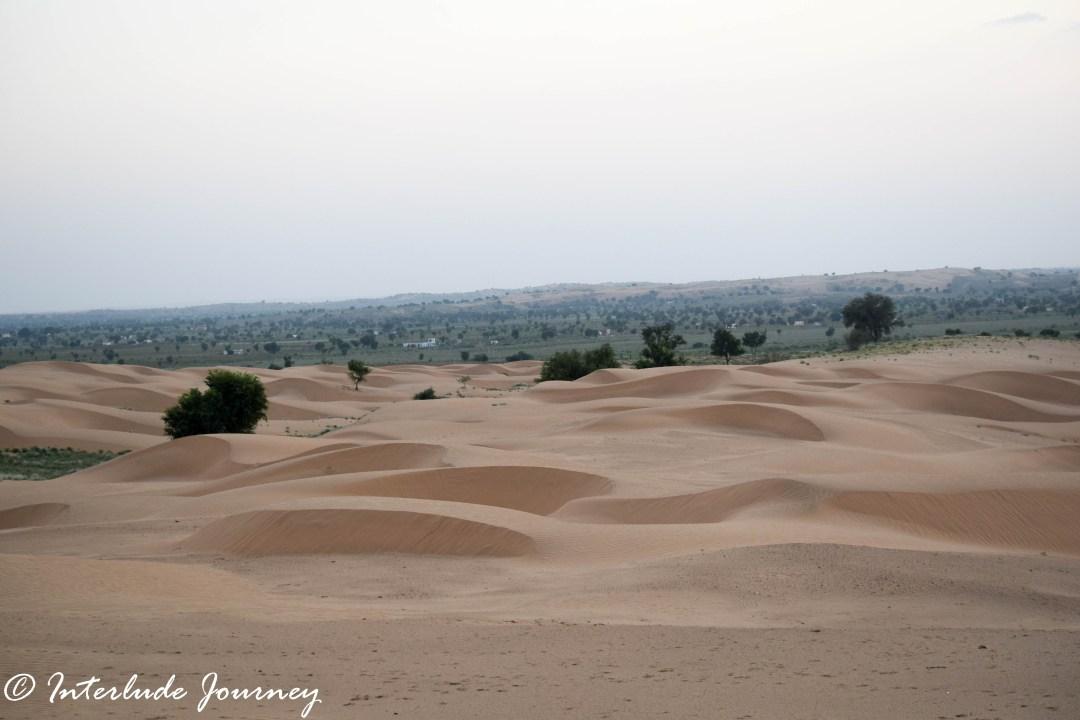 Deserted Sand dunes in Thar
