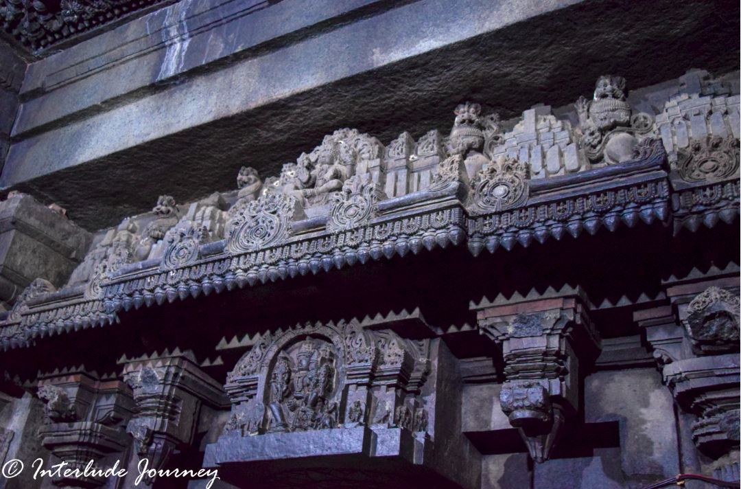 carving on one of the sanctums of keshava temple