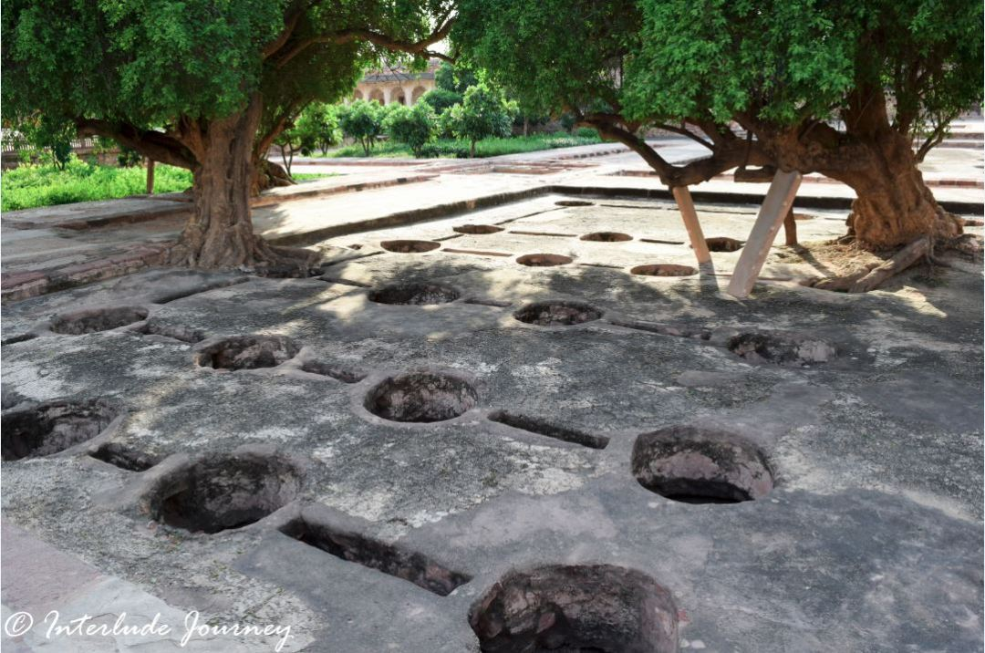 The water holes which once formed Lotus garden in Nagaur Fort