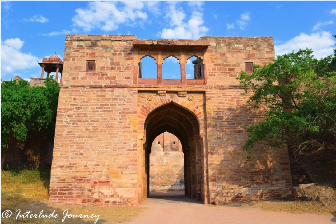 The Nondescript gate of Nagaur Fort