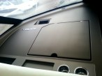 View of the non-reflective material on the dash of 2014 Prestige 450S