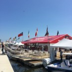 View of the floating bar at the 2014 Palm Beach Boat Show.
