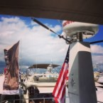 View of the Palm Beach Boat Show from Prestige flybridge
