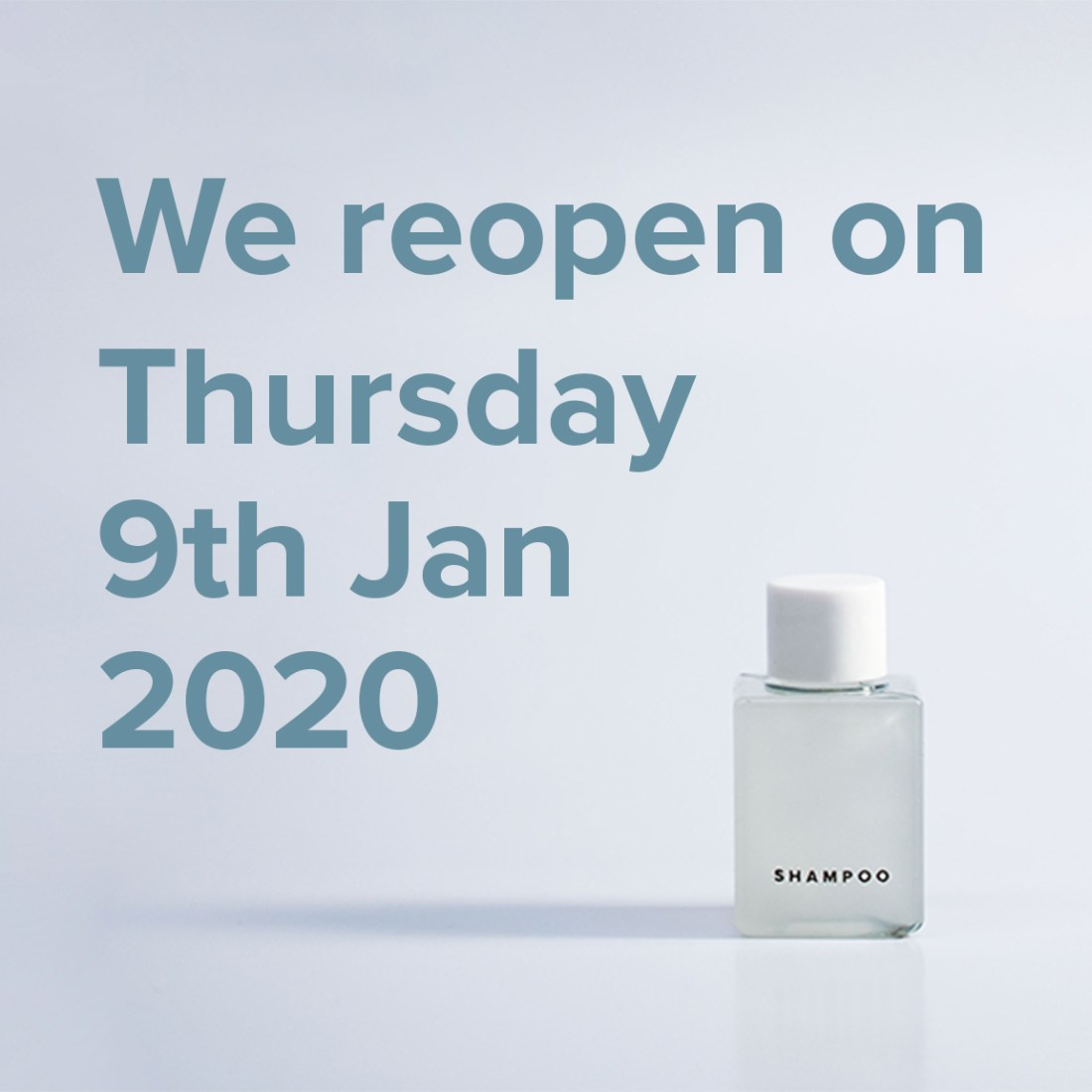 We reopen on 9th Jan 2020