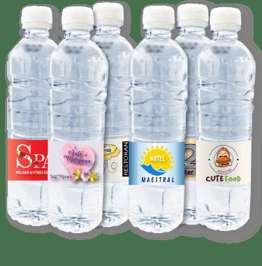 Promo voda, brandirana izvorska voda je visokokvalitetna voda s vašim logotipom