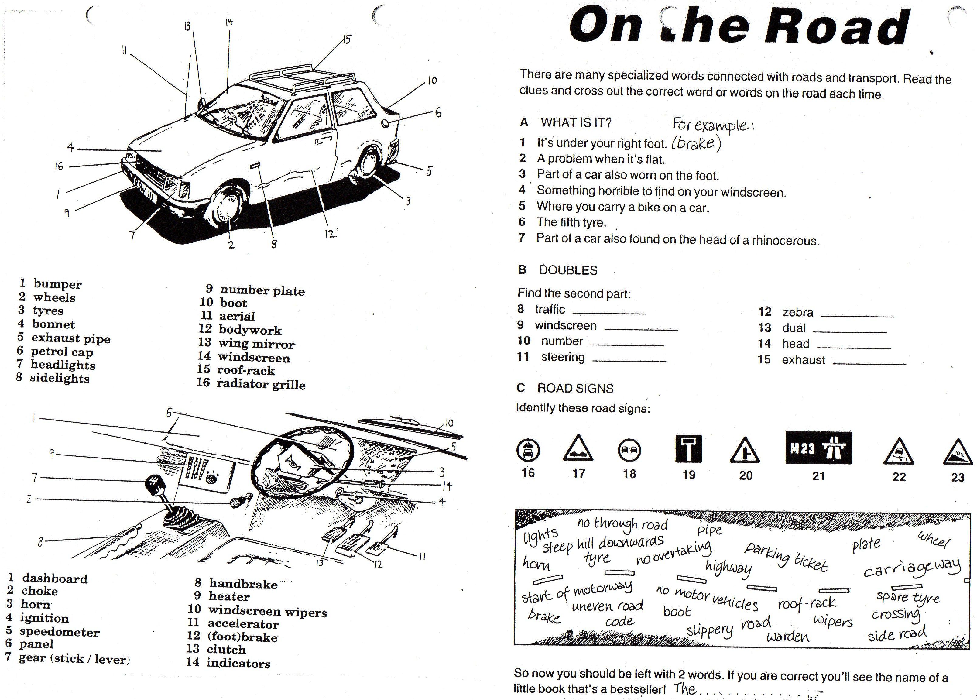 Cars Vocabulary