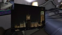 Our second postcard, from London, is sitting on an end table next to Terry's side of the bed in his and Jan's bedroom.