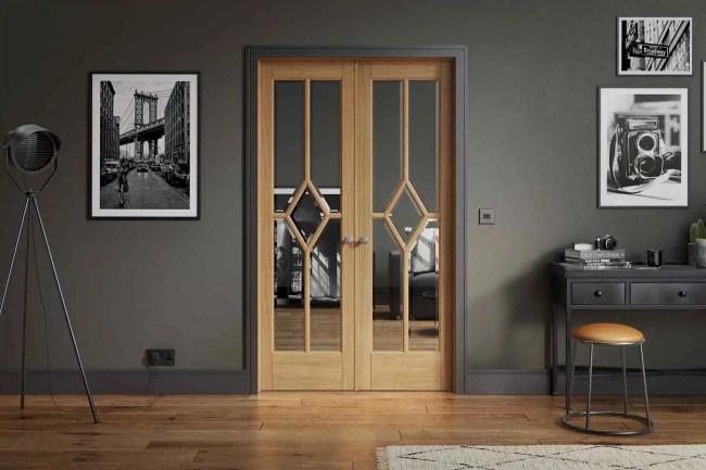 Room Divider Oak Reims W4 2