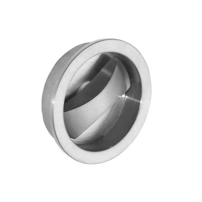 Ironmongery Aries Satin Chrome Pocket Door Privacy Handle