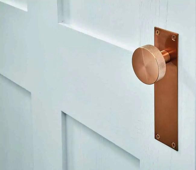 Ironmongery Zermatt Satin Copper Handle Hardware Pack 2