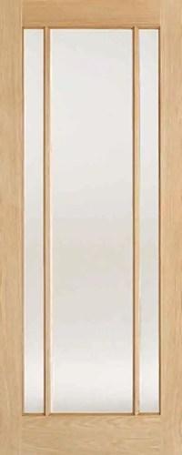 Oak Lincoln Glazed 3L Clear Glass
