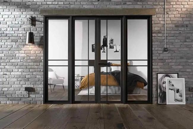 Room Divider Black Greenwich W8 LifeStyle