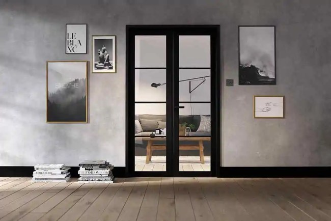 Room Divider Black Soho W4 LifeStyle