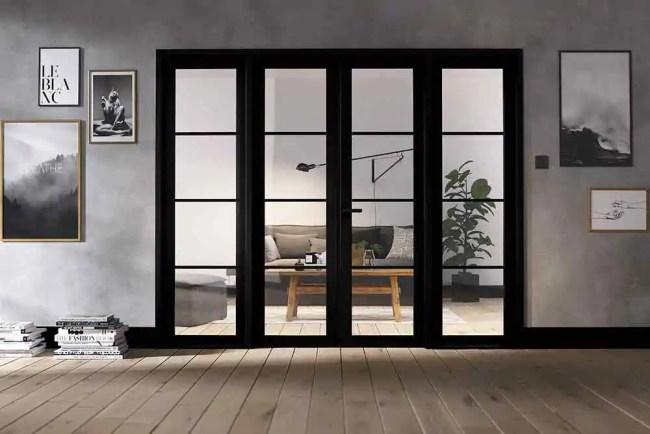 Room Divider Black Soho W8 LifeStyle