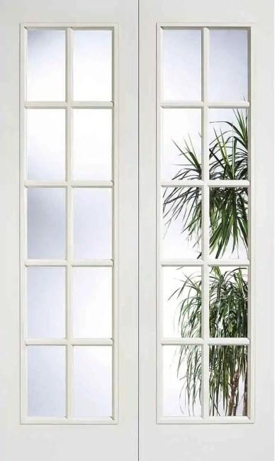 White Moulded SA 20L Glazed Pair