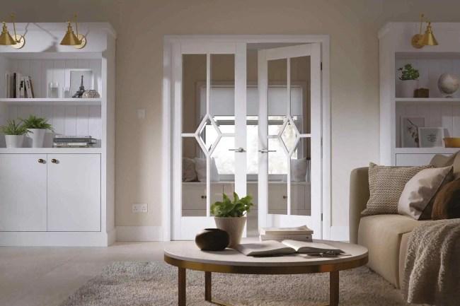 White Reims Glazed Pair LifeStyle