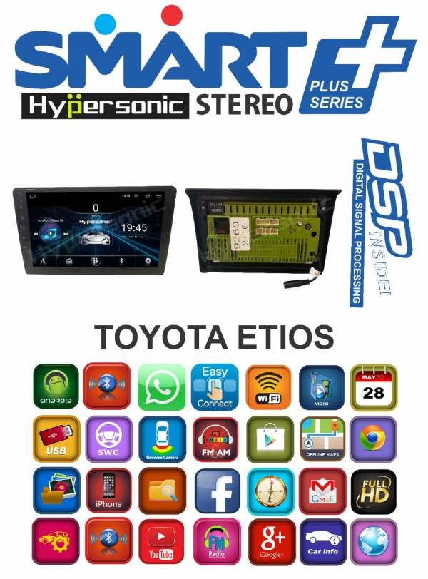 Hypersonic Toyota Etios Cross Android Stereo