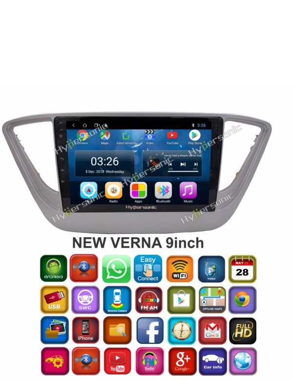Hypersonic Hyundai New Verna Android Stereo