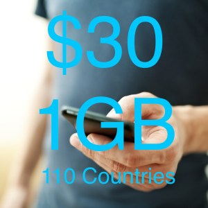 Data $30 110 Countries 1gb