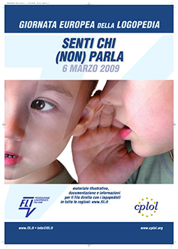 "A poster in Italian that says, ""Senti Chi (Non) Parla"""