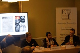 Panel IV Nationalism and Self-determination: (on the right) Amina Mahmood Mir and Christopher Brucker