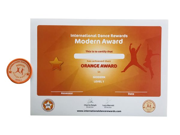 International Dance Rewards, dance rewards, dance school award, dance school rewards, dance school, dance school award, dance accreditation, dance accreditations, dance reward system, dance badge, dance certificate, dance badge and certificate, children's dance school, modern dance award orange