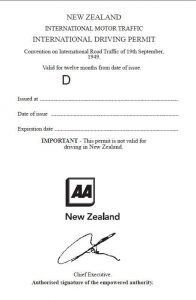 international driving permit needed for new zealand