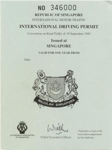 Singapore International Driving Permit