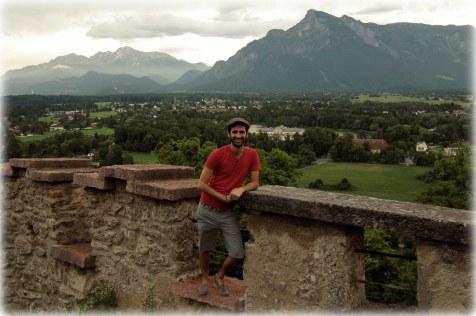 Overlooking a valley of Salzburg