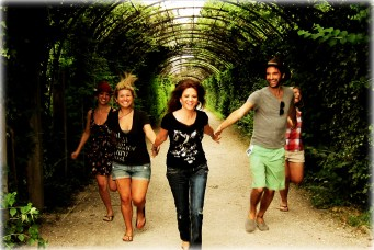 Reliving a scene from the Sound of Music with my family in Salzburg, Austria.
