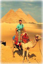 At The Great Pyramid of Giza