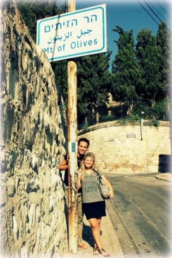 Walking in the footsteps of Jesus up the Mount of Olives in East Jerusalem