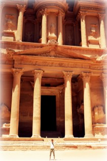 Feeling small in front of the Treasury at Petra