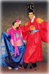 Dressed in Traditional Korean best in Seoul, Korea