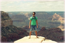 Feeling small at the Grand Canyon in Arizona