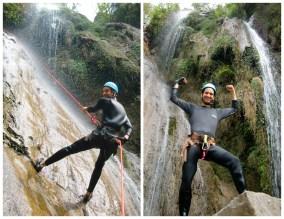 Exploring waterfalls near the Tibet boarder in Nepal
