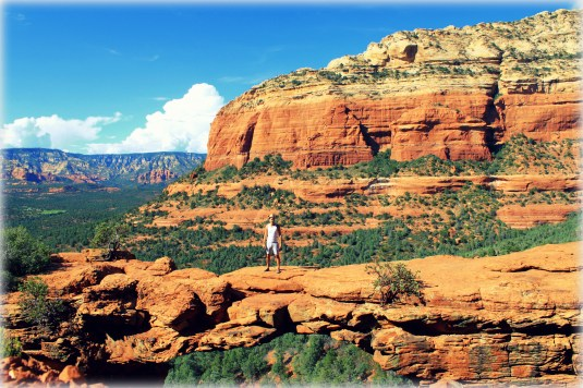 Sedona, Arizona: One of my favorite places on earth. Sedona's main attraction is its array of red sandstone formations, the Red Rocks of Sedona. The formations appear to glow in brilliant orange and red when illuminated by the rising or setting sun. The Red Rocks form a popular backdrop for many activities, ranging from spiritual pursuits to the hundreds of hiking and mountain biking trails.