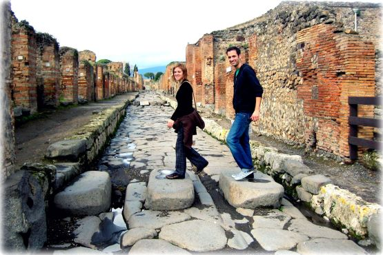 Walking the ancient streets of Pompeii