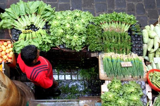 Bazaar stalls selling fresh produce