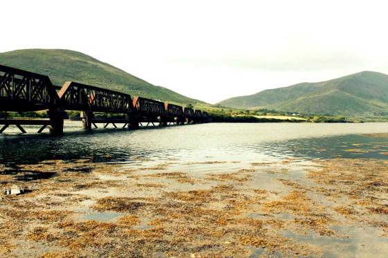 An old railway bridge across the River Ferta