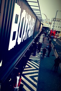 BOXPARK pop-up mall is located on Bethnal Green Road