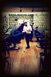 The barbers professional inside Murdock London in Shoreditch