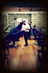The barbers professional inside Murdock London in Shoreditch