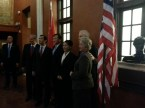 U.S.-China Partnerships board members join Mayor Parker and Consul General Xu Erwen for a photo.
