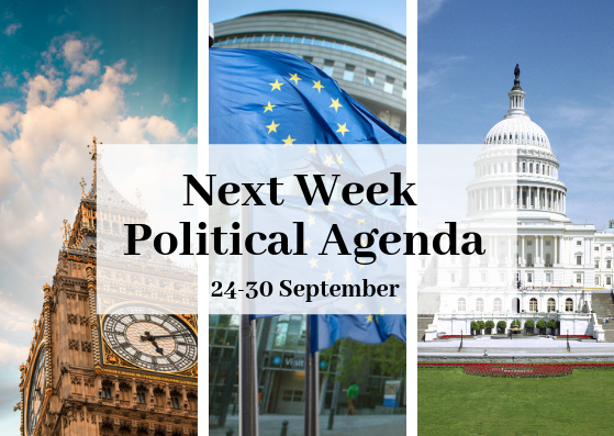 Next week political agenda (24-30 September)