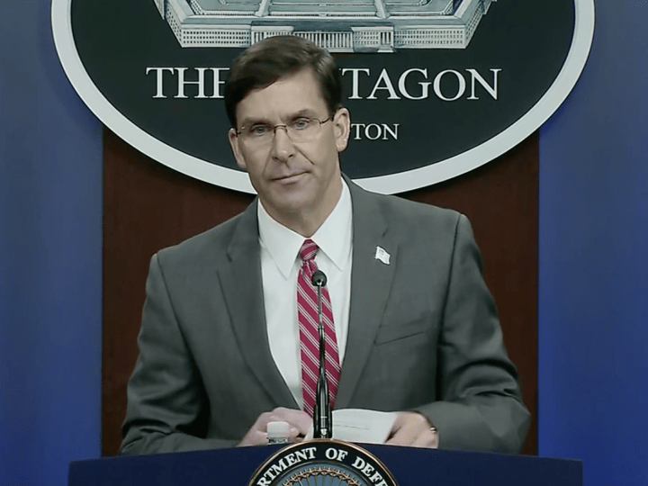 US Secretary of Defense Esper opposes using Insurrection Act to quell protest unrest