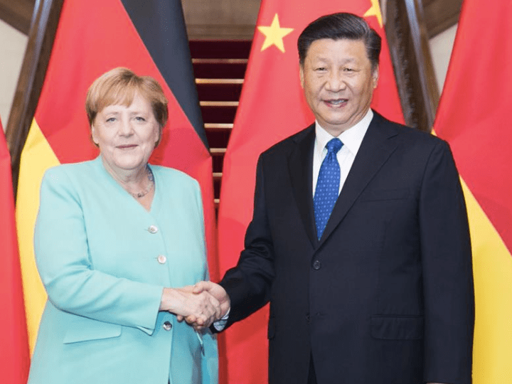 Xi Jinping and Angela Merkel discuss the future of EU-China relations